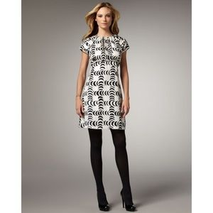 Tory Burch Shirley Crescent-Print Dress Size 6